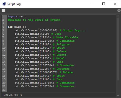 Script Log