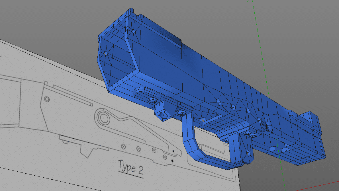 AK Receiver Low Poly