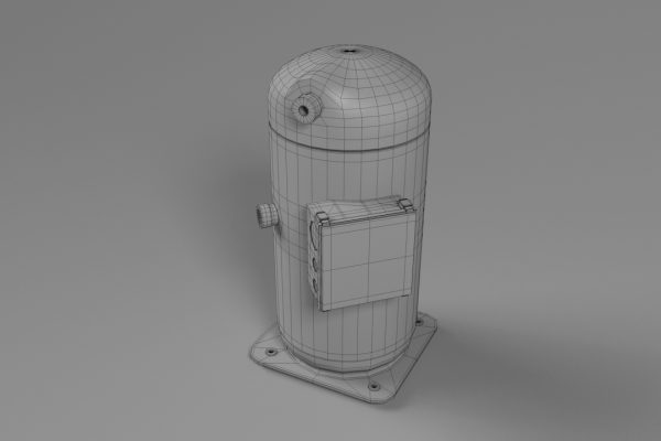 Scroll Compressor Wireframe