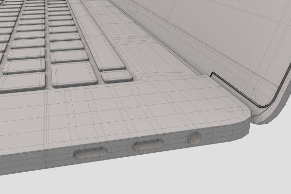 Apple MacBook Pro Wireframe Mesh