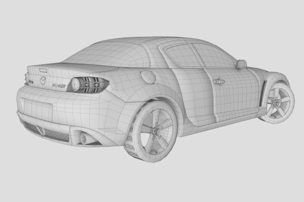 Mazda RX-8 Wireframe