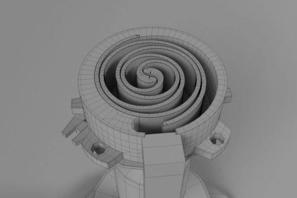 Scroll Compressor Wireframe