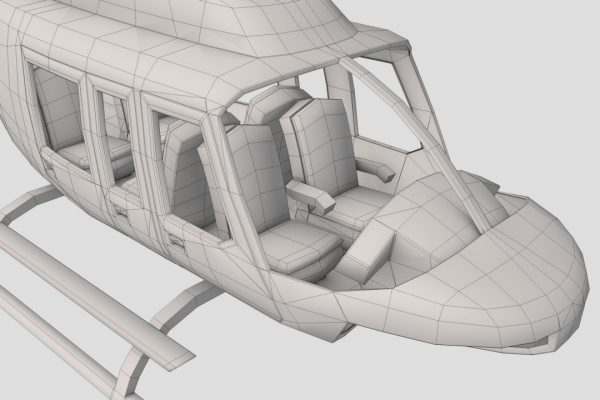 Helicopter Wireframe
