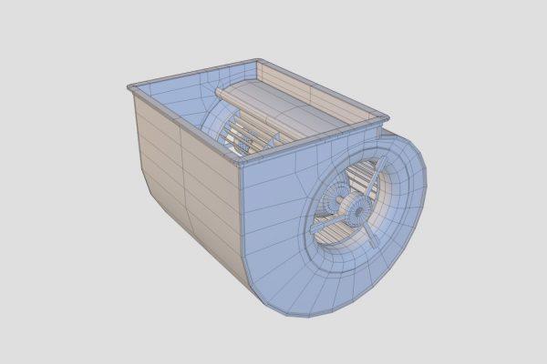 Centrifugal Fan Wireframe